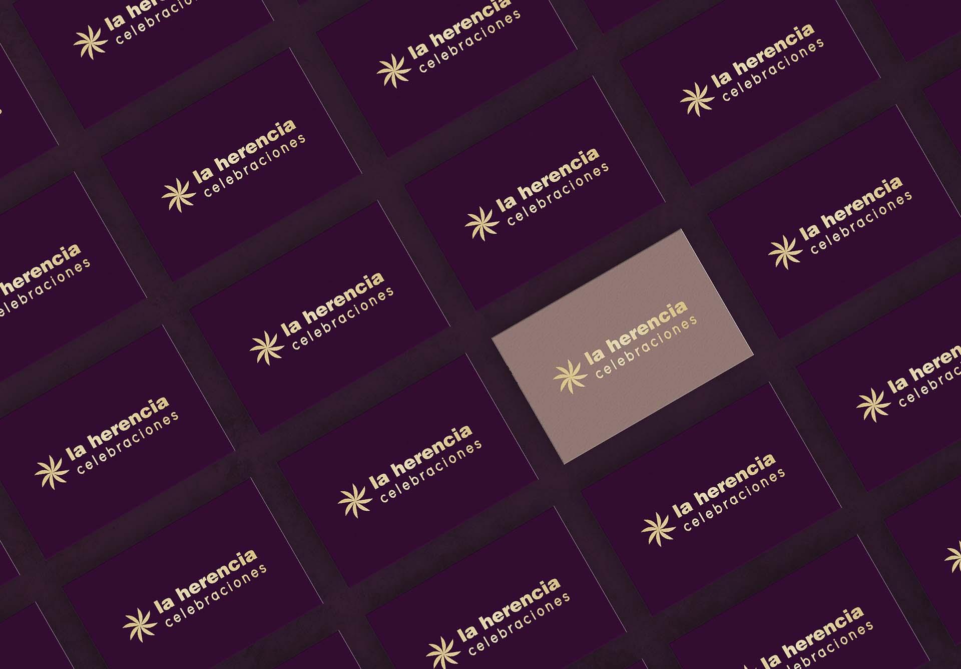 diseño tarjetas de visita la herencia celebraciones