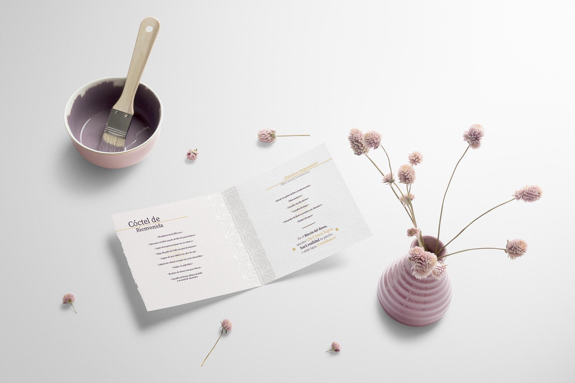 diseño menú boda