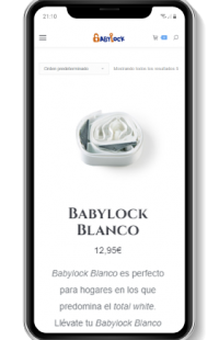 diseño web adaptable movil babylock